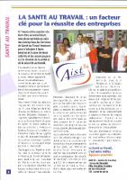 La santé au travail un facteur clé pour la réussite des entreprises – Bulletin d'informations parc d'activités de Courtine – 24.07.2017