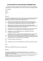 Attestation de déplacement dérogaoire – 23.03.2020