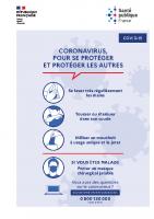 Affiche Coronavirus pour se protéger et protéger les autres
