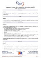 Règlement intérieur Commission de contrôle