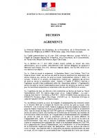 Décision Agrement AIST 84 – 2020-14-12